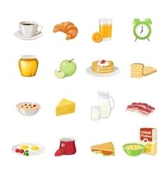 Breakfast Food Icon Set vector image vector image