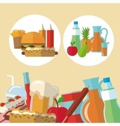 Delicius food Food icon set icon Menu concept vector image