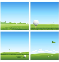 four golf backgrounds vector image vector image