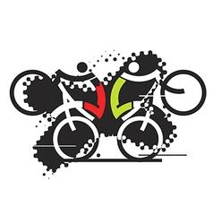 Freeride cyclists vector image vector image