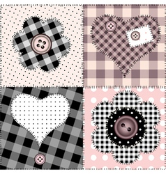 Patchwork amour vector