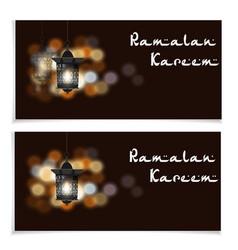 ramadan kareem inscription flyers postcards or vector image