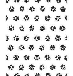 seamless of dogs paws vector image