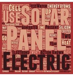 Solar panels text background wordcloud concept vector