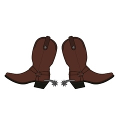Wild west leather cowboy boots vector image