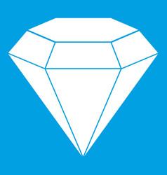 brilliant gemstone icon white vector image