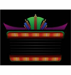 classic colorful neon vector image