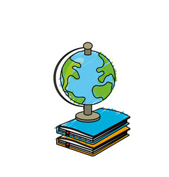 earth planet map desk in notebooks vector image vector image