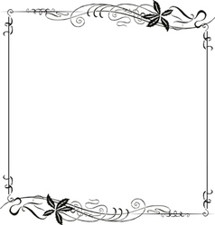 Frame Ornate Art Nouveau vector image