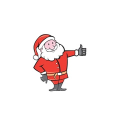 Santa Claus Father Christmas Thumbs Up Cartoon vector image