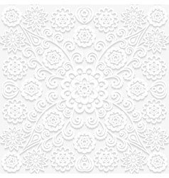 Seamless floral pattern in traditional style vector image vector image