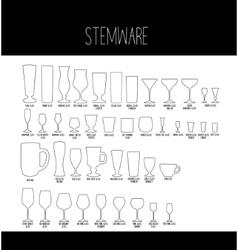 Set of Stemware vector image vector image
