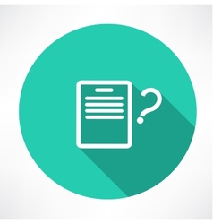 sheet with a question mark icon vector image vector image