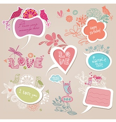 Speech bubbles set love vector image vector image