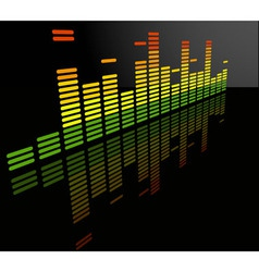 equalizer abstract background vector image