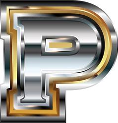 Fancy font Letter P vector image vector image