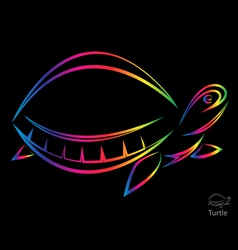 image of an turtle vector image vector image