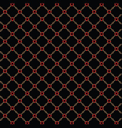 lattice gold pattern with trendy lattice on a vector image vector image