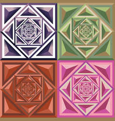 Abstract geometric color pattern vector