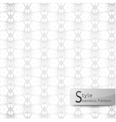 Abstract seamless pattern floral lattice point vector