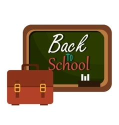 back to school board and bag design vector image