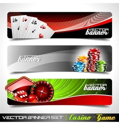 banner set on a casino theme vector image vector image
