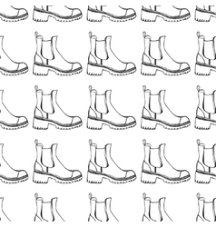 seamless pattern with shoes vector image vector image