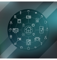 Smart Home And Internet Of Things Concept vector image