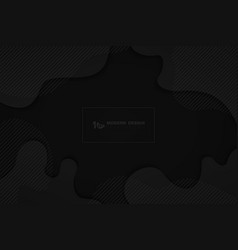 Abstract black design fluid texture element vector