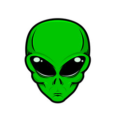 alien head isolated white background design vector image