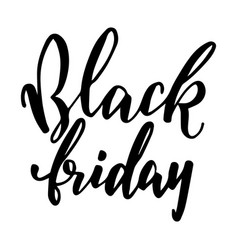 and drawn lettering for black friday vector image