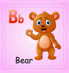 animals alphabet b is for bear vector image