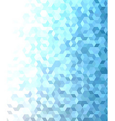 Blue 3d cube mosaic pattern background design vector image