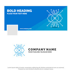 blue business logo template for ar augmentation vector image