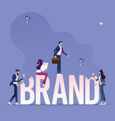 brand building concept vector image