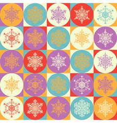 Bright background with snowflakes vector