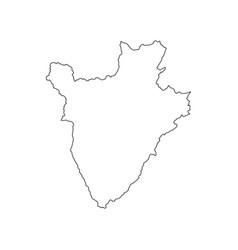 Burundi map silhouette vector