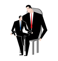 Businessmen and son business relatives family vector