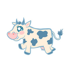 Cartoon a cow vector