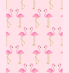 cartoon flamingo seamless pattern vector image