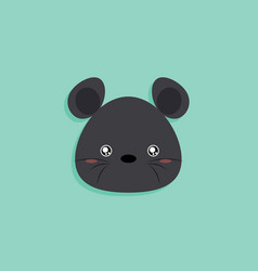 Cartoon mouse face vector