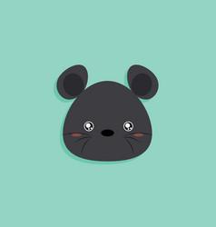 Cartoon mouse face vector