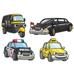 Cartoon of cars set vector