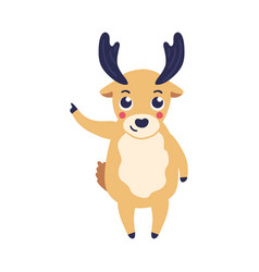 Cartoon reindeer standing vector