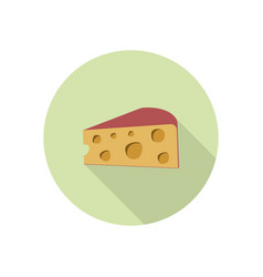 Cheese icon isolated vector