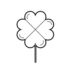Clover poker symbol icon vector