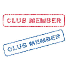 Club member textile stamps vector