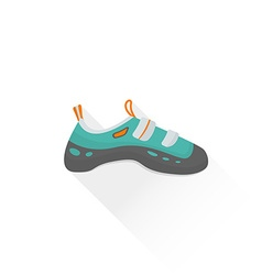 Color alpinism equipment shoes icon vector