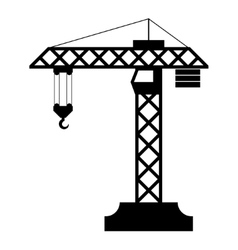 Construction crane silhouette vector