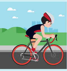 Cycling athletic sport cartoon set vector